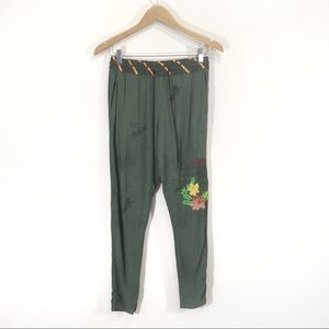 Desigual Embroidered Ankle Jogger Cargo Pants 26